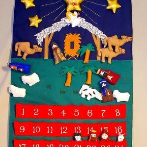 Nativity Scene Advent Wall Hang
